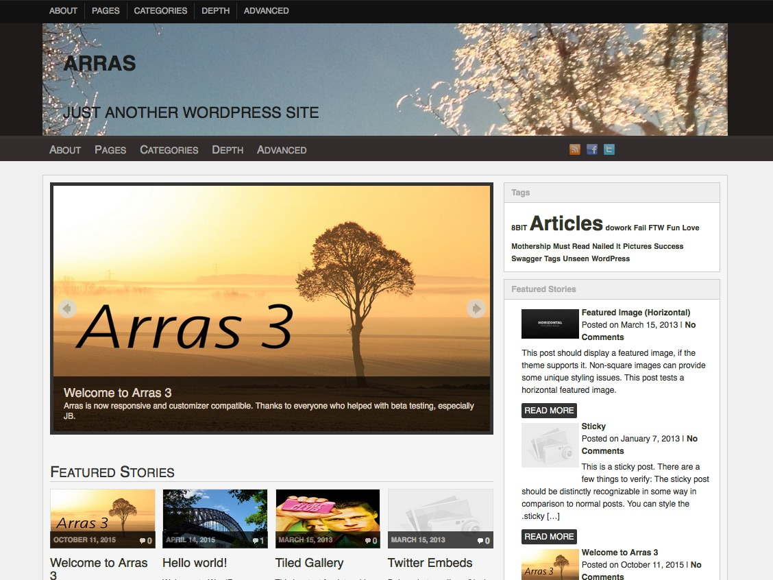 Arras WordPress blog theme
