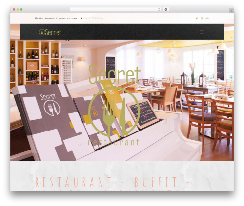 Betheme WordPress restaurant theme - restaurant-secret-pornichet.fr