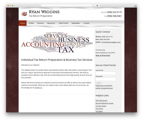Customized WordPress theme - ryanwiggins.com