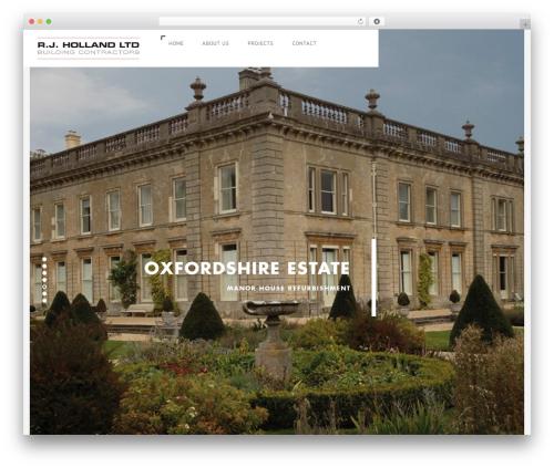 Domik best WordPress theme - rjholland.co.uk