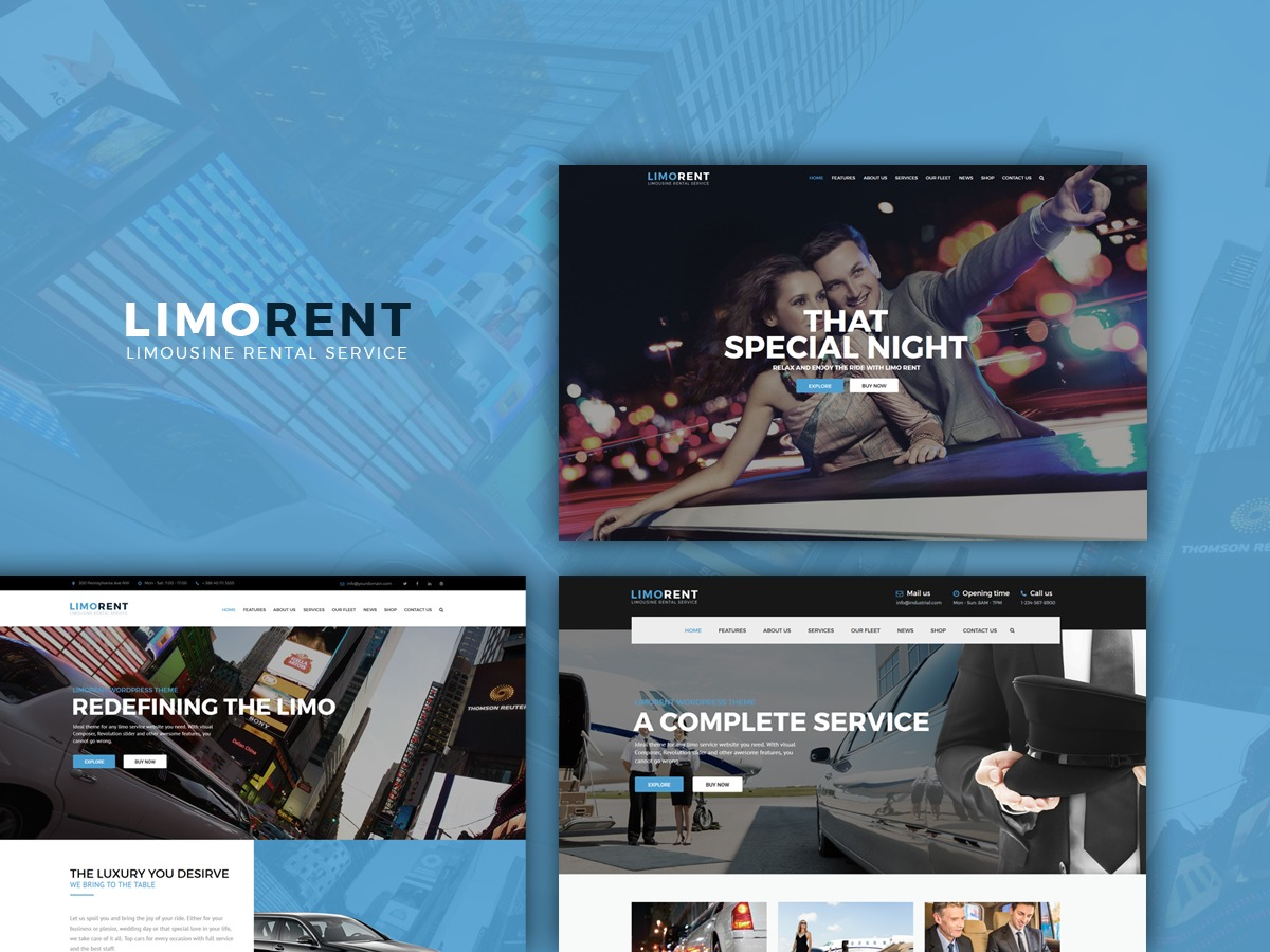 LimoRent WordPress template for business