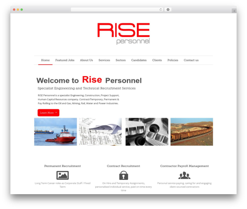 Quare WordPress theme - risepersonnel.com.au