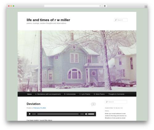 Twenty Eleven WP theme - rwmiller.net