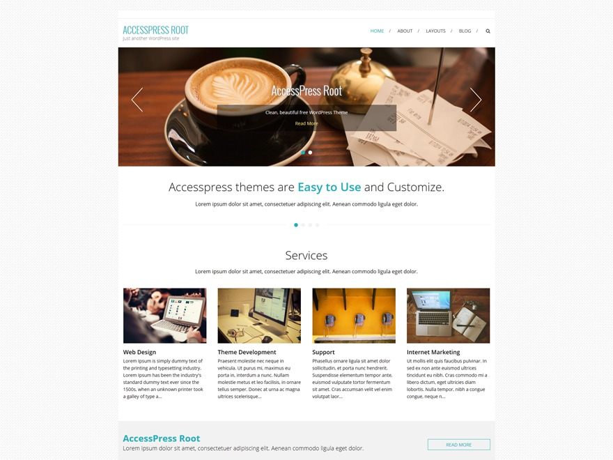 AccessPress Root Pro company WordPress theme