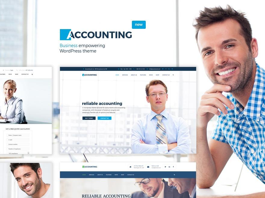 accounting best portfolio WordPress theme