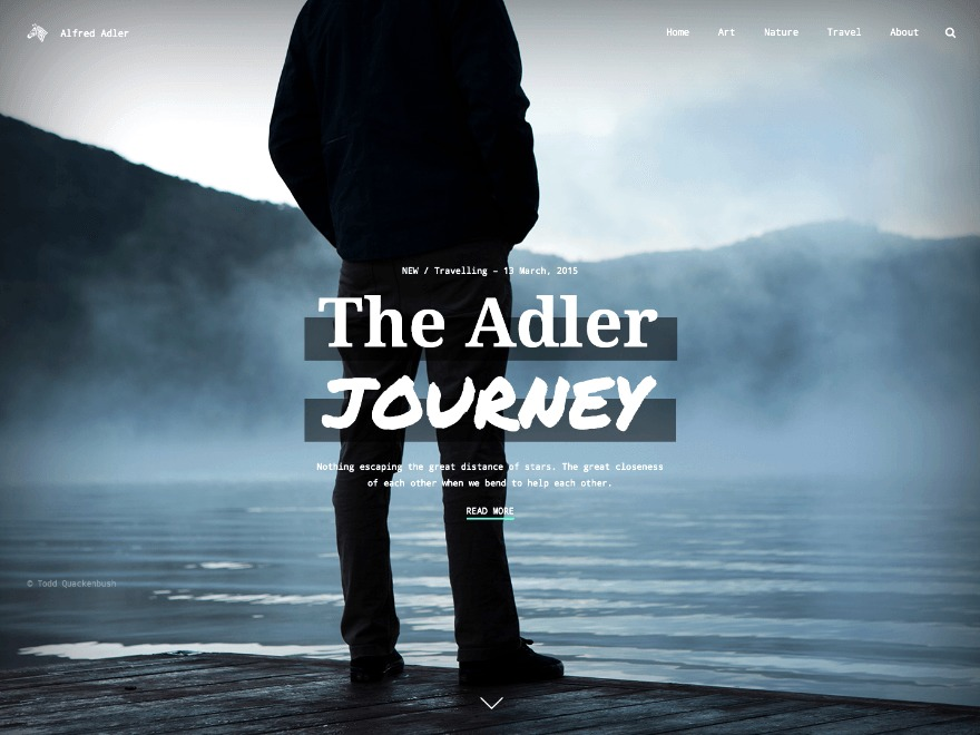 Adler WordPress blog template