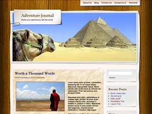 Adventure Journal WordPress theme