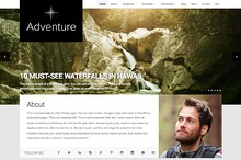 Adventure WordPress travel theme