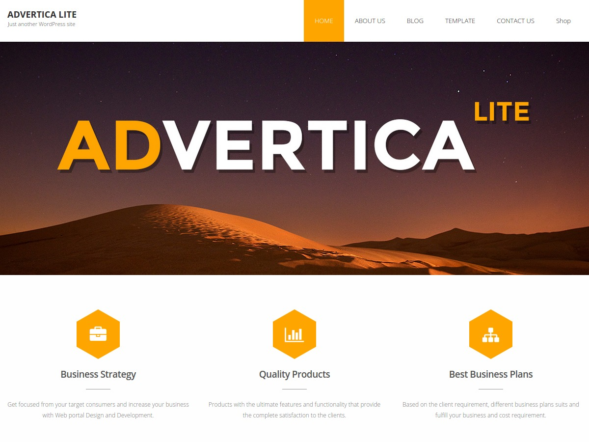 Advertica Lite business WordPress theme