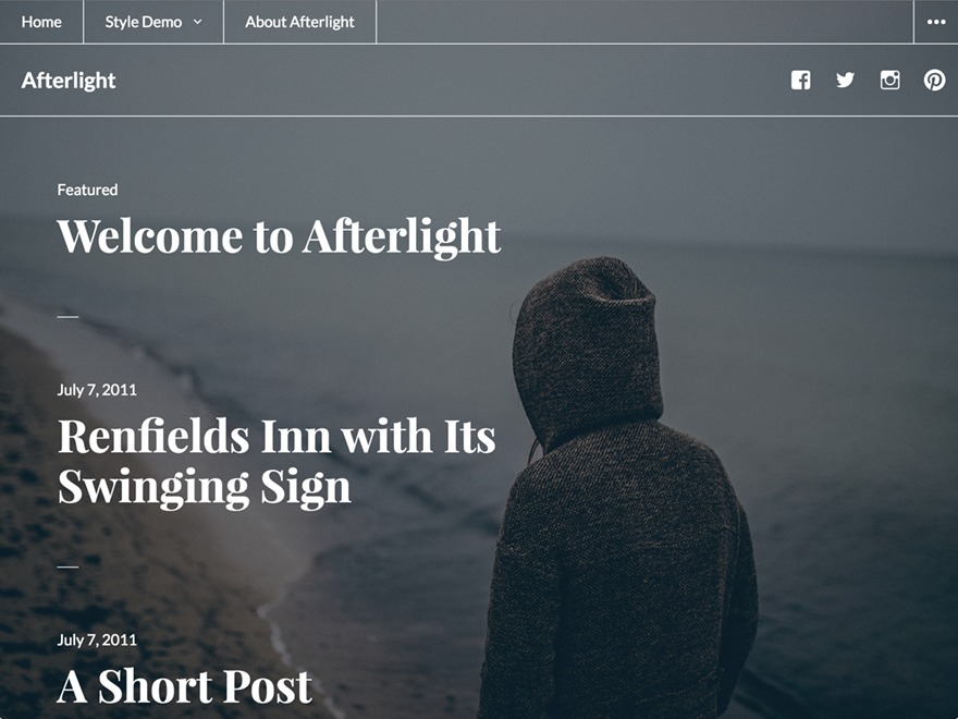 Afterlight free WP theme
