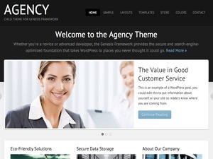 Agency Child Theme theme WordPress