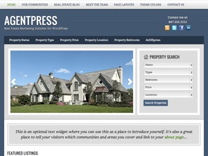 AgentPress Two WordPress website template