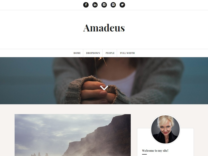 Amadeus WordPress blog template