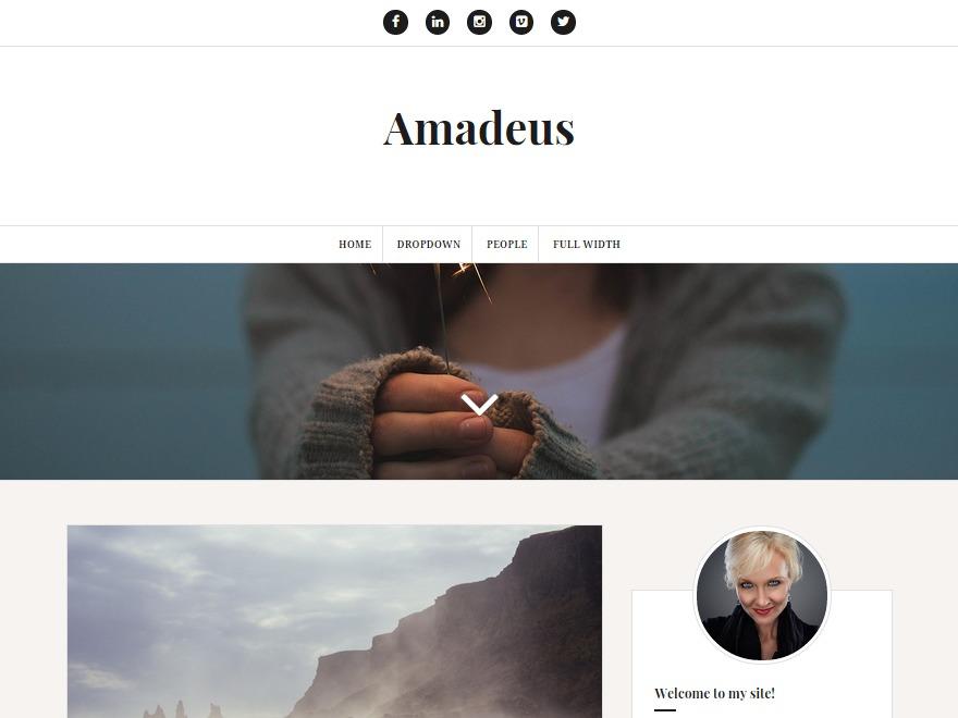 Amadeus WordPress blog template