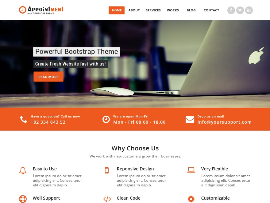Appointment personal blog WordPress theme