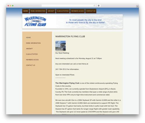 ar WordPress theme design - warringtonflyingclub.org