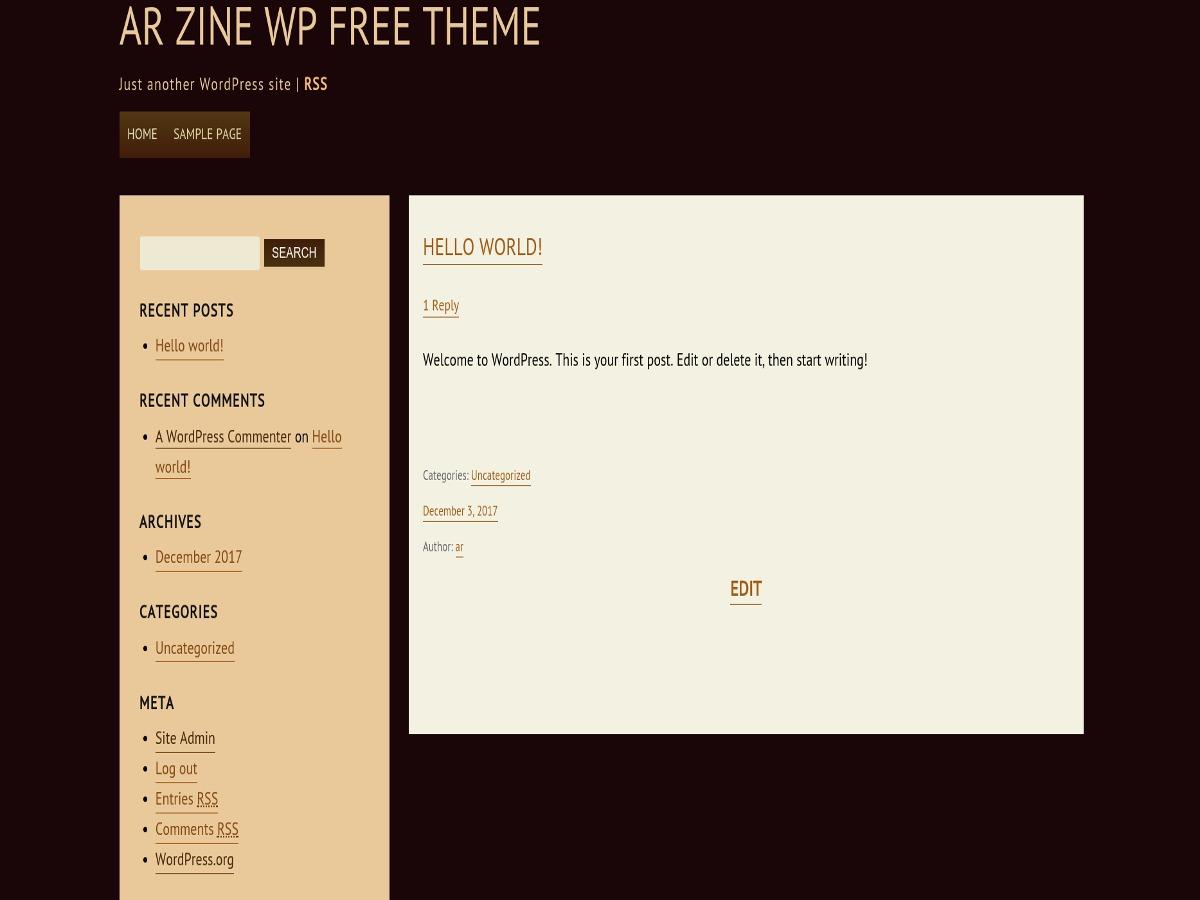 ar WordPress theme free download