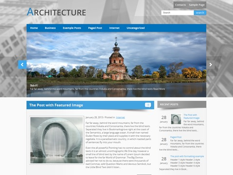 Architecture template WordPress