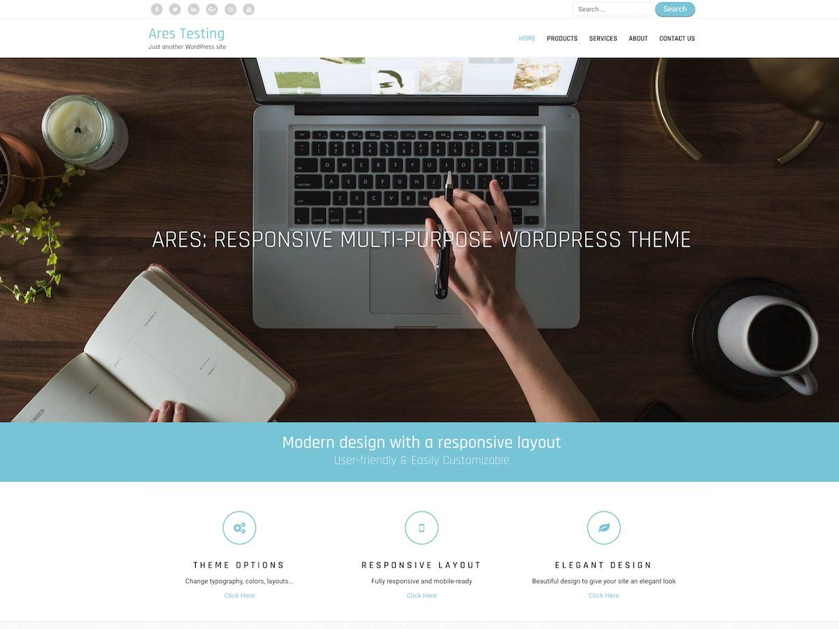 Ares free WordPress theme