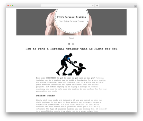 Atlantic free WP theme - well-fitlife.com