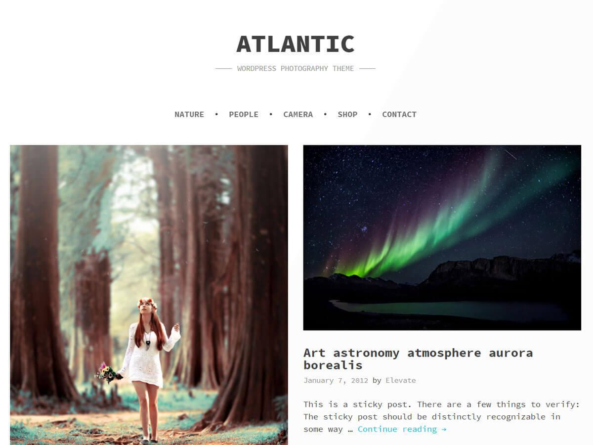 Atlantic WordPress video template