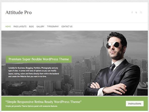 Attitude Pro WordPress blog theme