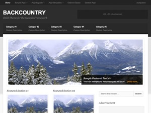 Backcountry Child Theme WordPress theme design