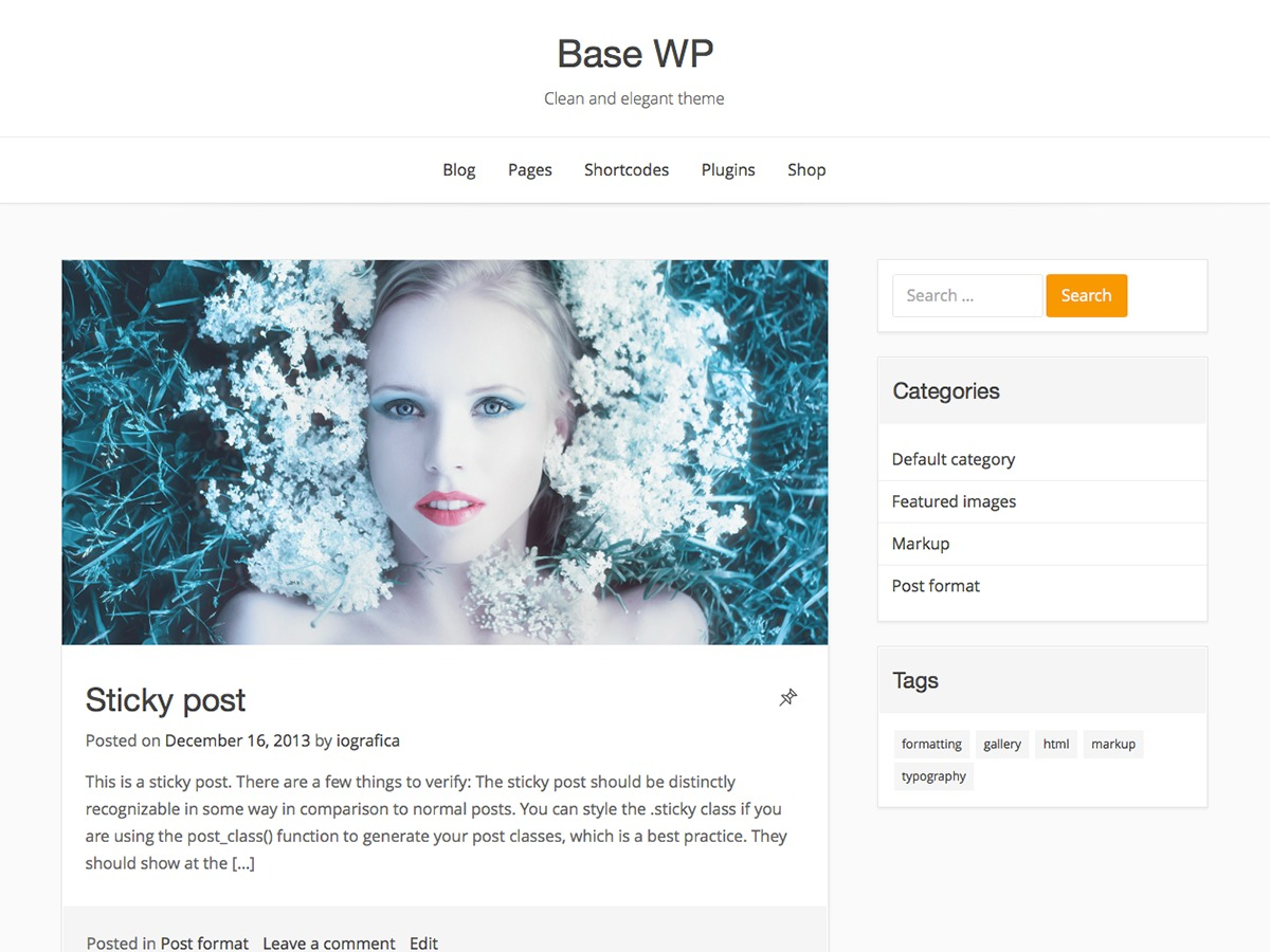Base WP WordPress template for business