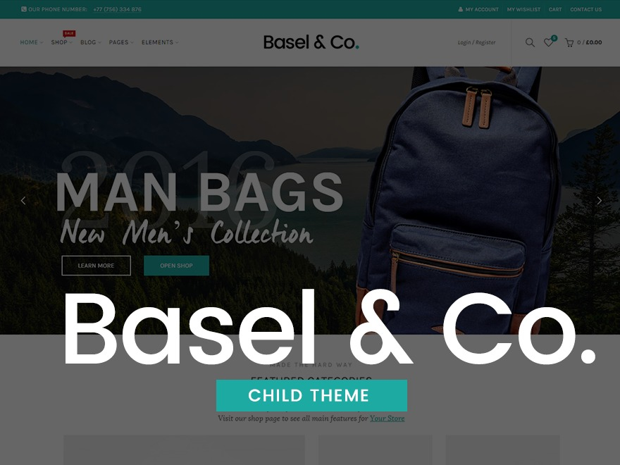 Basel Child WordPress theme