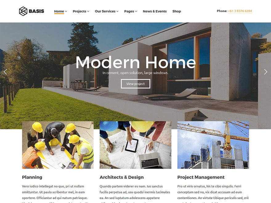Basis WordPress template for business