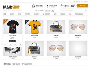 Bazar Child WordPress store theme