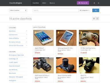 Best WordPress template ClassifiedEngine
