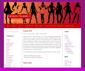 Best WordPress template Red Light