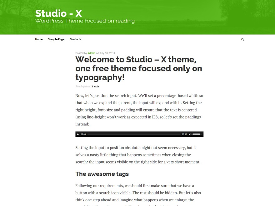 Best WordPress template Studio-X