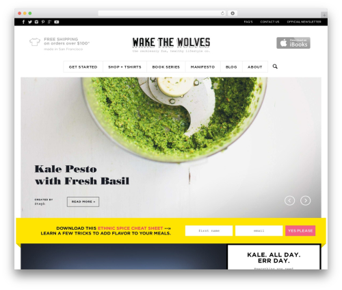 Best WordPress template Wake the Wolves - wakethewolves.com