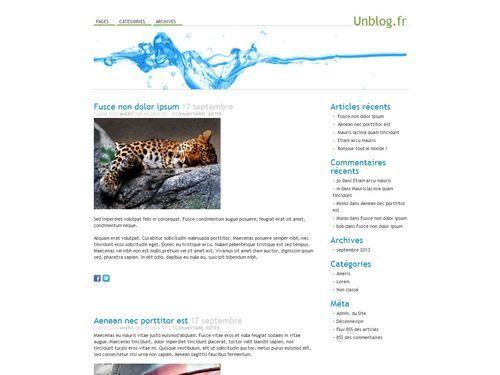 Best WordPress template Water
