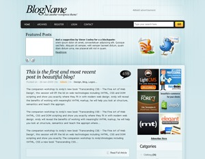 Best WordPress theme DynaBlue