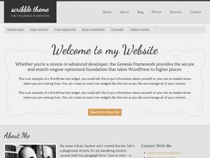 Best WordPress theme Scribble Child Theme