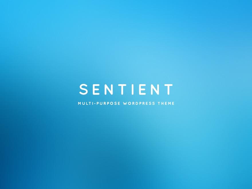 Best WordPress theme Sentient