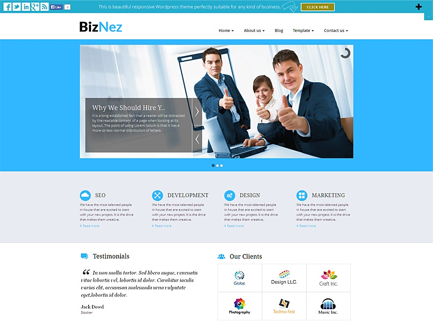 Biznez Lite WordPress theme download