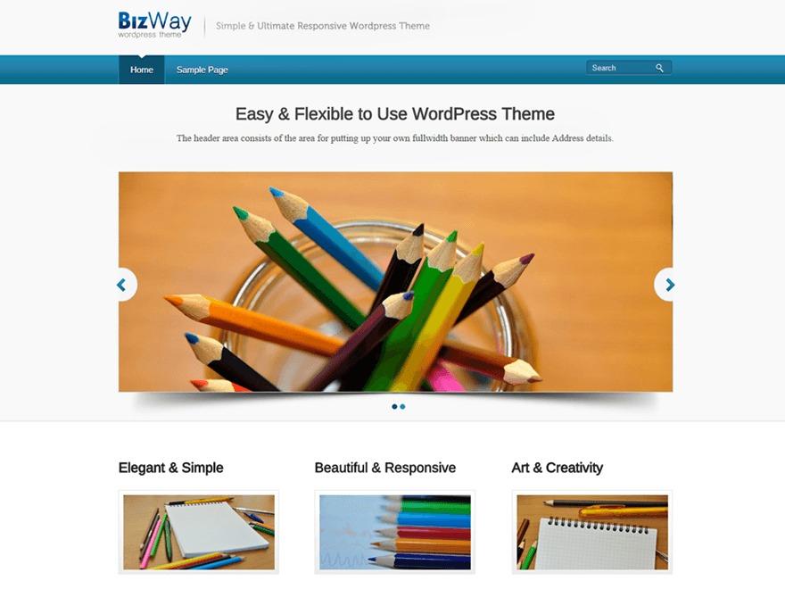 BizWay template WordPress free