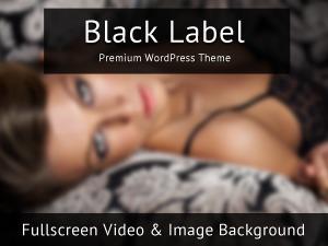 Black Label WordPress page template