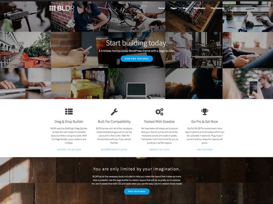 BLDR template WordPress free