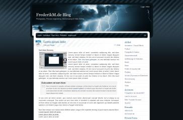 BlueMoD WordPress blog theme