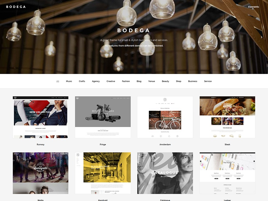 Bodega WordPress theme