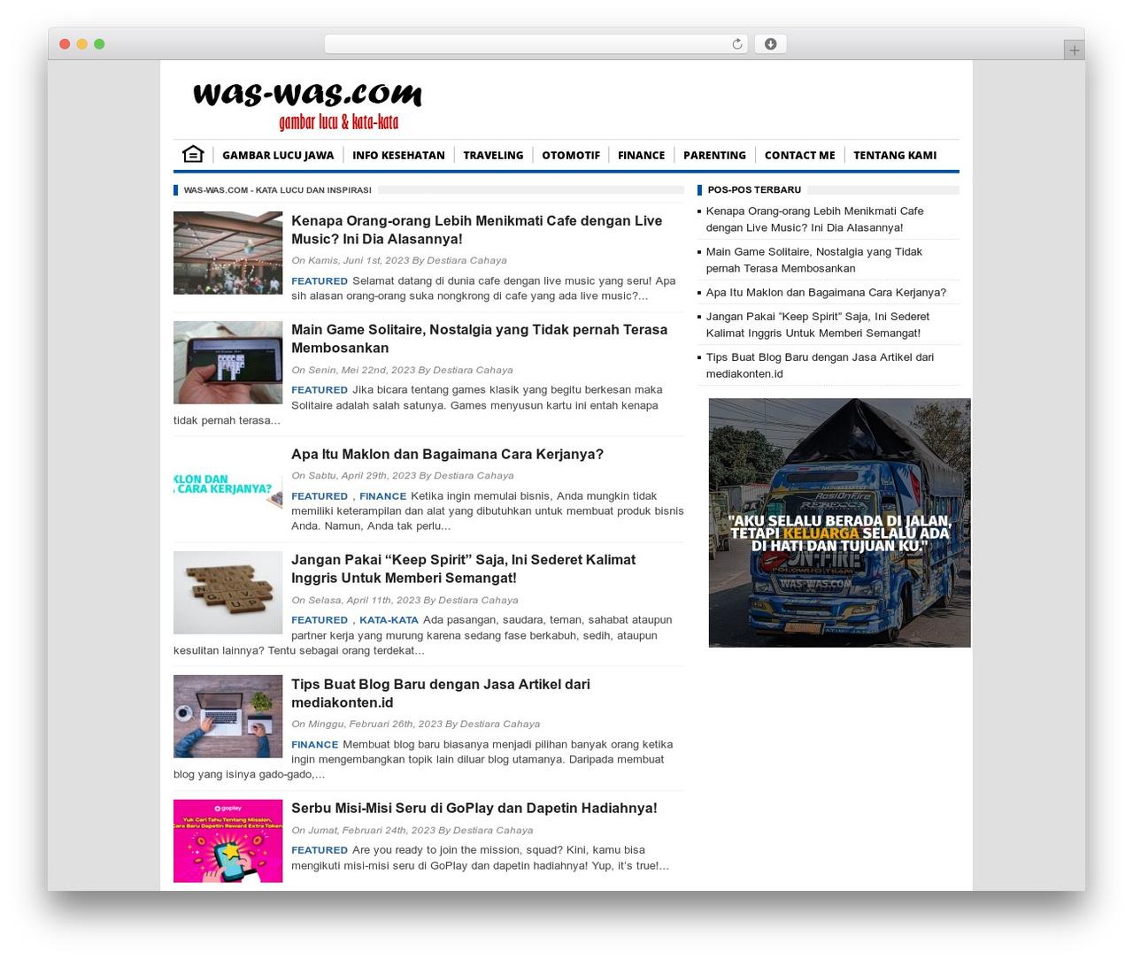 BorderSEO WordPress Theme Best WordPress Template By Bambang