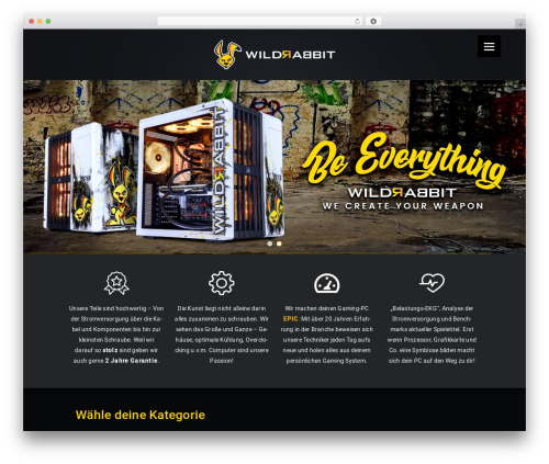 BoxShop WordPress theme - wildrabbit.de