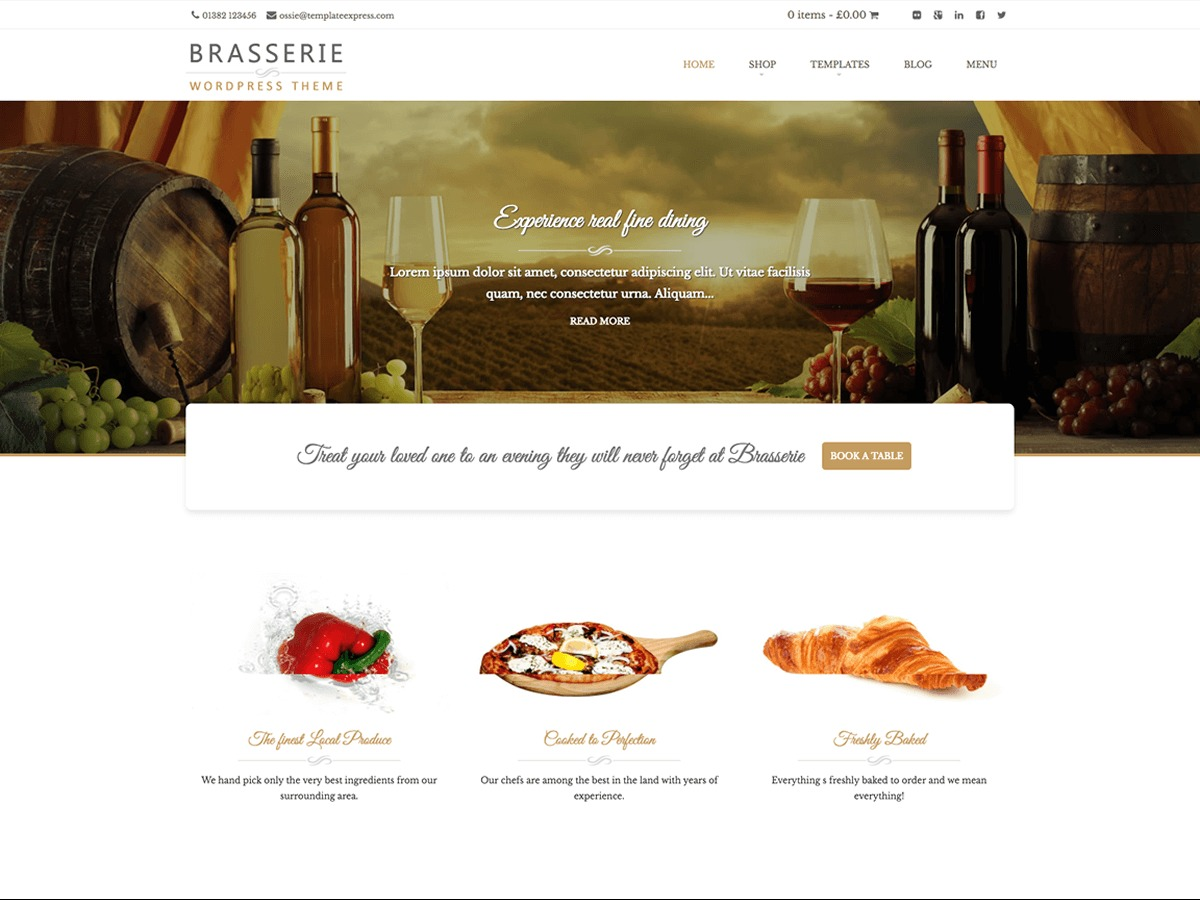Brasserie WordPress free download