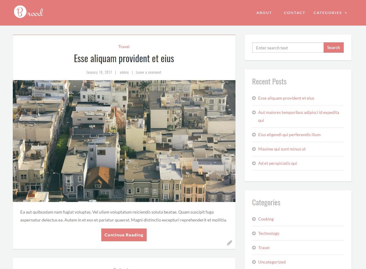 Brood free WordPress theme