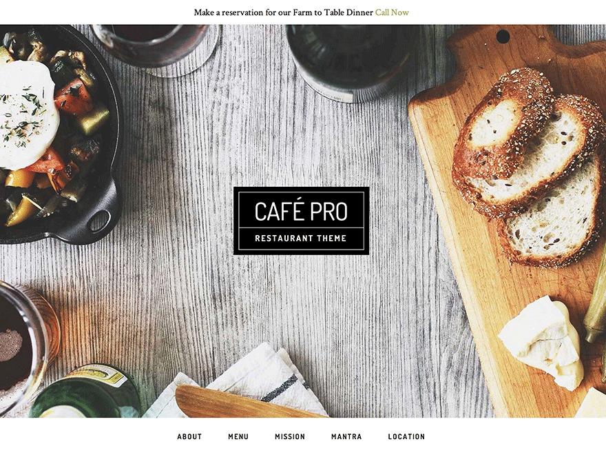 Cafe Pro WordPress theme